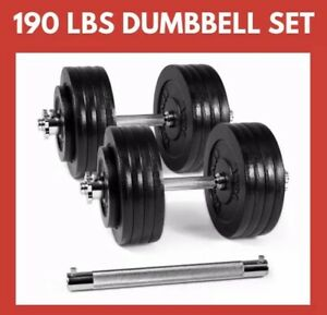 Adjustable Dumbbells WITH DUMBBELL CONNECTOR, 190lbs, Yes4All Brand, Excellent