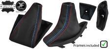M Stitch Leather Gear Handbrake Gaiter + PLASTIC FRAME FOR bmw x3 e83 03-10
