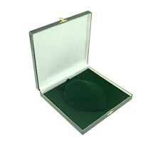 1 x Antique Style Green Leatherette Necklace Box Jewellery Necklace Holder Case