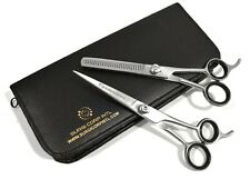 "Professional HAIRDRESSER Scissors and Thinning Set 6"" Silver with cover"