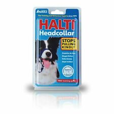 HALTI Dog Head Collar Padded Anti Pull Stop Pulling Kindly - Black size 2