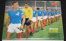 POSTER AUBOUR OLYMPIQUE LYONNAIS EQUIPE DE FRANCE WORLD CUP COUPE MONDE 1966