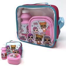 L.o.l surprise! Kids 3 Pc Insulated Lunch Set-sac avec sangle, Boite & Bouteille