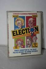 ELECTION VIRGIN GAMES GAME USED EXCELLENT COMMODORE 64 EDITION ENGLISH FR1 51806