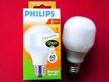 Philips Energiesparlampe Sparlampe T60 Softone 12W 12 W Watt E27 NEU !!!