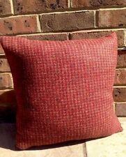 Harris Tweed Tetrad Cushion Cover Red Brown Burgundy Designers Guild Velvet 1