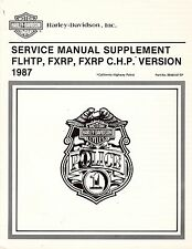 1987 Harley FLHTP FXRP/C.H.P. Police Service Repair Manual Supplement 99483-87SP