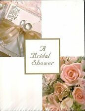 A Bridal Shower 20 Ct Invite Invitations Note Card Rose Ring Golden Formal New