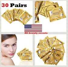60 Pieces 30 X Crystal Gold Snail Collagen Eye Patch Mask Puffy Dark Circles Lot