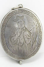 museale Silber Reliquienkapsel Münchner Stadtpunze Klosterarbeit voll erhalten