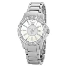Aviator F Series Ladies Watch Crystal Bezel Interchangeable Straps