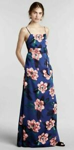 Banana Republic Women's Cobalt Floral Belted Maxi Dress Sz. S NWOT $158