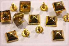 40pz borchie sfuse a piramide con vite 10*10mm ORO * 40 cone studs with screw