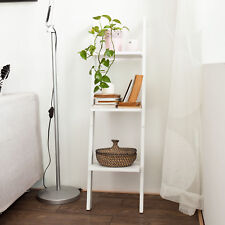 SoBuy® Wood 3 Tiers Ladder Shelf, Storage Display Wall Shelf, FRG32-W, White, UK