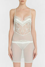 La Perla Wisteria M Chemise Leavers Lace Georgette Silk Off White
