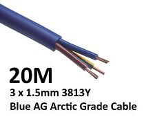 20M Arctic Blue 3183Y Flex Cable 3core x 1.5mm: Outdoor Caravan Camping Artic