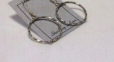"Earrings On French Earwires New Sterling Silver 1"" Fancy Twisted Hoop"
