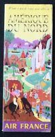 Brochure touristique AIR FRANCE AMERIQUE DU NORD Bayle dépliant Tourisme