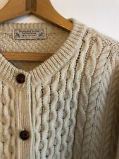 pure wool chunky cable knit cardigan size 10/12