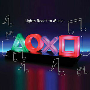 Game Icon Light Voice Control Atmosphere Neon Ornament Playstation Sign LED Lamp