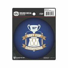 Winnipeg Blue Bombers 2019 107th Grey Cup Champions Collectors Round Vinyl Decal
