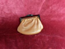 Porte monnaie cuir marron 8,5x10cm VINTAGE 70 Brown Leather purse Monedero cuero