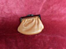 Porte monnaie cuir marron 8,5x10cm VINTAGE 70 Brown Leather purse Monedero cuero