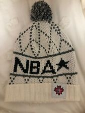 NBA White And Grey PomPom Beanie Hate