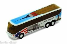 NYC New York City Tour Coach Bus Empire State Building Brooklyn Brdge 1:64 Scale