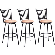 Set of 3 Swivel Counter Height Bar Stools Modern Barstool Bistro Pub Chair New