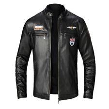 Великобритания мужской реальный подлинный кожаная куртка винтажный черный коричневый приталенная байкер совершенно новый