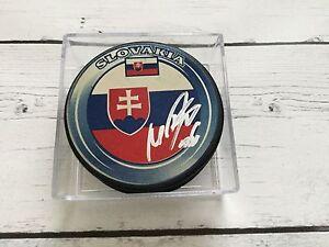 Marko Dano Signed Autographed Team Slovakia Hockey Puck b