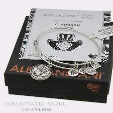 Authentic Alex and Ani Claddagh iii Rafaelian Silver Charm Bangle CBD