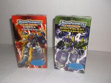 LOT of 2 Transformers Energon: Shockblast Unleashed & Omega Supreme (2005) VHS