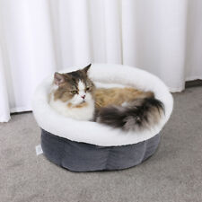 Pet Dog Igloo Kitten Bed Small Cat Cushion Soft Nest Cave Warm Pad Puppy Bag