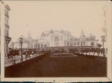 France, Ancienne Gare à identifier  Vintage silver print.  Tirage argentique