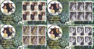 NAURU MNH STAMP SHEETS 2007 QEII DIAMOND JUBILEE FULL SHEETS SG 659-662