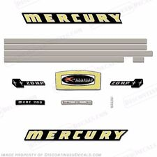 Mercury 1965 20hp Outboard Decal Kit - Reproduction Decals In Stock!