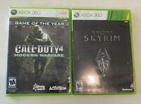 Microsoft Xbox 360 2 Game Lot The Elder Scrolls V: Skyrim, COD 4: Modern Warfare