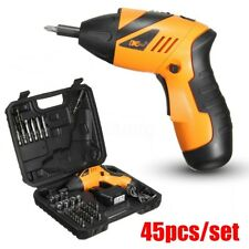 Electric Wireless Drill Driver Bits Set Battery & Recharger Cordless Screwdriver