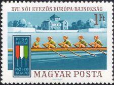 UNGHERIA 1970 WOMEN'S Campionati europei di canottaggio/Barche/Sport 1 V (n45133)