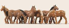 Merten h0 5018 cavalli, 6 figure, dipinta a mano, nuovo