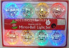 Christmas Tree 8 Musical Light Mirror Ball Play Xmas Carol Music Sound Activated