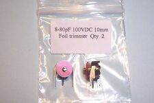 8-80 pF trimmer capacitors Sprague  2pcs. NEW Other values stocked