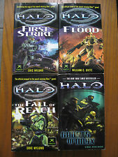 Four Halo Novels: First Strike - The Flood - Fall of Reach - Ghost of Onix