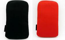 2 x Funda Roja y Negra Terciopelo para Telefono Movil iPhone 4G 3G 3Gs 4S 2140