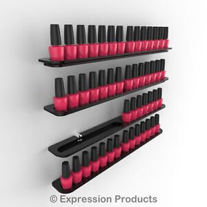 x4 Professional Nail Polish Stands/Shelves each holds 14 Opi China Glaze Polish