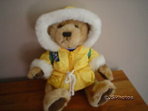 Brass Button Bears Iceberg Augie Jointed Talking Bear Polar Friends 2001