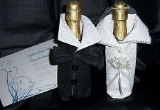 UPDATED NEW ITEM Handmade Wedding Bride Groom Wine Bag Bridal Shower