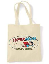 SUPER MAMMA A Spalla \ Shopping Bag-le madri giorno o. regalo compleanno
